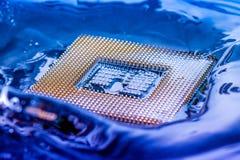 Elektroniskt begrepp för teknologi nedgång för CPU-RAMdator in i Royaltyfri Foto