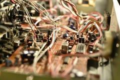 Elektroniskt bräde med chiper Royaltyfri Foto