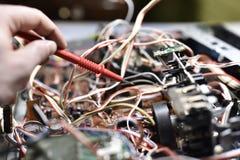 Elektroniskt bräde med chiper Royaltyfri Fotografi