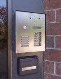 Elektroniskt dörrarkiv och säkerhetsblock Royaltyfria Foton