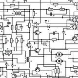 Elektroniskt diagram - seamless vektortextur Arkivfoton