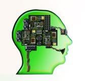 elektroniskt huvud Arkivbild