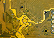 elektroniskt moderkort för strömkretsdetalj Arkivbild