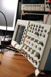 elektroniskt oscilloskop för apparat Arkivbilder