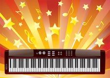 Elektroniskt piano. Fotografering för Bildbyråer