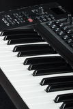 Elektroniskt piano Fotografering för Bildbyråer