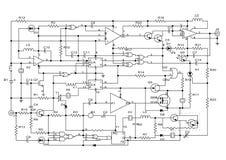 elektroniskt projekt vektor illustrationer