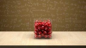 Elektronu pudełko przed physics deską Obraz Royalty Free