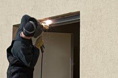 Elektroschweißen-Tür-Störung Stockbilder