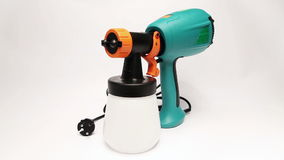 Elektrospuitpistool voor kleuring, voor kleurenverpulvering stock videobeelden