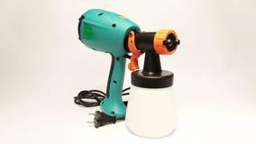 Elektrospuitpistool voor kleuring, voor kleurenverpulvering stock video
