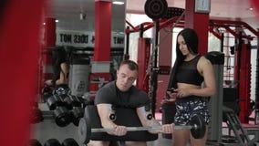 Elektrostimulatie van spieren stock footage