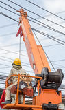 Elektrotechniek het werken Stock Foto