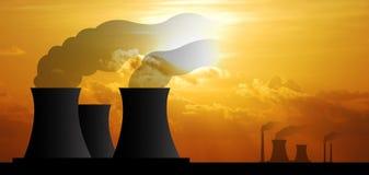 Elektrowni elektrowni przemysłu przemysłowego biznesu elektryczny fac Zdjęcie Royalty Free