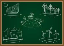Elektrowni energii doodles Zdjęcie Royalty Free