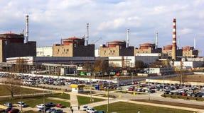 elektrowni jądrowej moc Przemysł i ekologia Obraz Stock