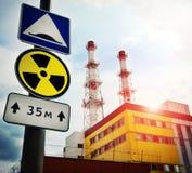 elektrowni nuklearnej władza fotografia stock