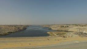 Elektrownia Aswan wysokości tama zdjęcie wideo