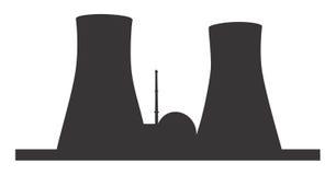 elektrownia atomowa royalty ilustracja