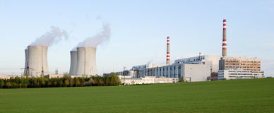 elektrownia atomowa Fotografia Stock