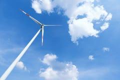 elektrownia energetyczny nowożytny wiatr Obraz Royalty Free