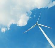 elektrownia energetyczny nowożytny wiatr Zdjęcia Royalty Free