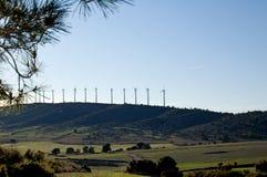 elektrownia energetyczny wiatr Zdjęcie Royalty Free