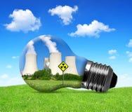 Elektrownia jądrowa w żarówce Obraz Royalty Free