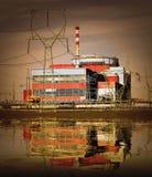 Elektrownia jądrowa. fotografia stock