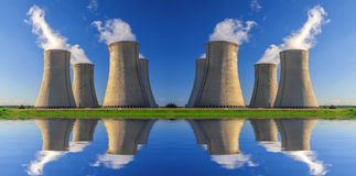 Elektrownia jądrowa Dukovany w republika czech Europa Obrazy Royalty Free