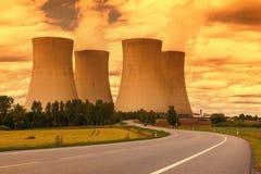 Elektrownia jądrowa Temelin w republika czech Europa Zdjęcie Royalty Free