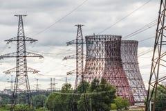 Elektrownia krajobraz Zdjęcia Stock