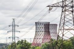 Elektrownia krajobraz Fotografia Royalty Free