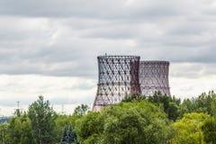 Elektrownia krajobraz Obrazy Royalty Free