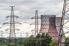 Elektrownia krajobraz Obraz Royalty Free