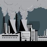 elektrownia nuklearna ilustracja wektor