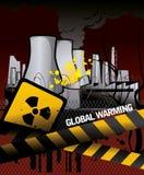 elektrownia nuklearna royalty ilustracja