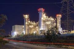 Elektrownia przy nocą Obraz Royalty Free