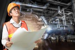 Elektrownia rządzi inżyniera Fotografia Stock