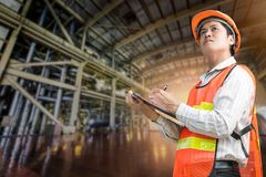 Elektrownia rządzi inżyniera Fotografia Royalty Free