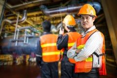 Elektrownia rządzi inżyniera Zdjęcia Royalty Free