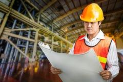 Elektrownia rządzi inżyniera Zdjęcia Stock