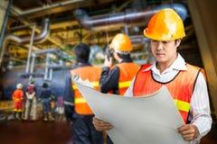 Elektrownia rządzi inżyniera Zdjęcie Stock