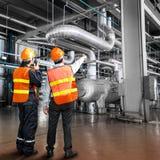 Elektrownia rządzi inżyniera Obrazy Stock