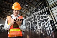 Elektrownia rządzi inżyniera Zdjęcie Royalty Free