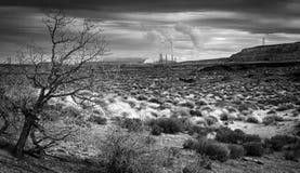 Elektrownia w dolinie Zdjęcie Royalty Free