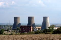Elektrownia węglowi kominy Obrazy Royalty Free