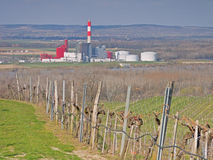 Elektrownia w Theiss, Niski Austria Zdjęcie Royalty Free