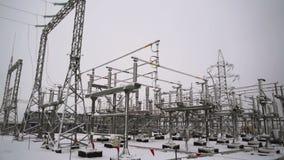Elektrownia w zimy zakończeniu zbiory wideo