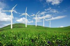 elektrownia wiatr Obrazy Royalty Free